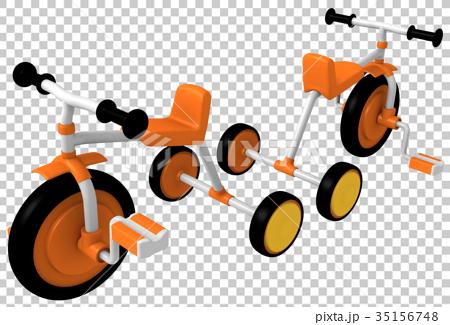 三輪車 玩具 馬車 35156748