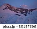 望岳台からみた夕景(十勝岳) 35157696