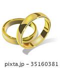 ブライダルリング 結婚指輪 ベクトルのイラスト 35160381