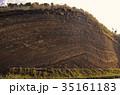 伊豆大島 断層 自然の写真 35161183