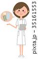 人物 看護師 女性のイラスト 35161553