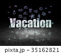 Travel concept: Vacation in grunge dark room 35162821