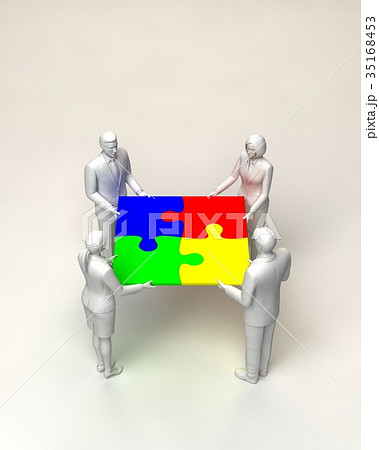 パズルを持つビジネスマン 35168453