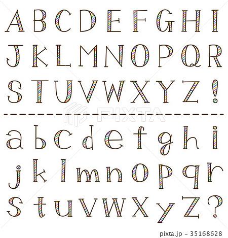 手書き風 アルファベットのイラスト素材 35168628 Pixta