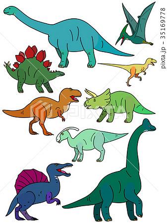 恐竜の素材 カラーのイラスト素材 35169778 Pixta