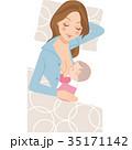 母乳 赤ちゃん 母親のイラスト 35171142