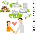結婚 人物 ブライダルのイラスト 35175030