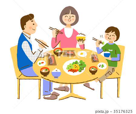3人家族 食卓 35176325