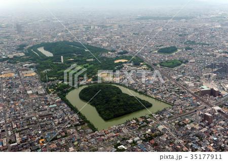 仁徳天皇陵を空撮 35177911