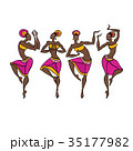 ダンス 舞う 舞踊のイラスト 35177982