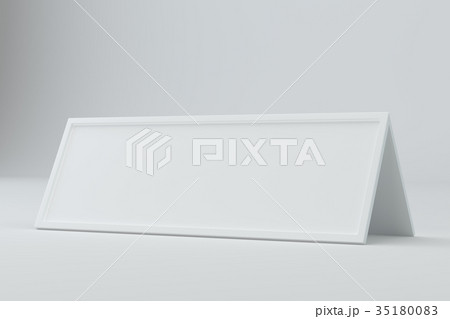blank table card sign template 3d rendering のイラスト素材