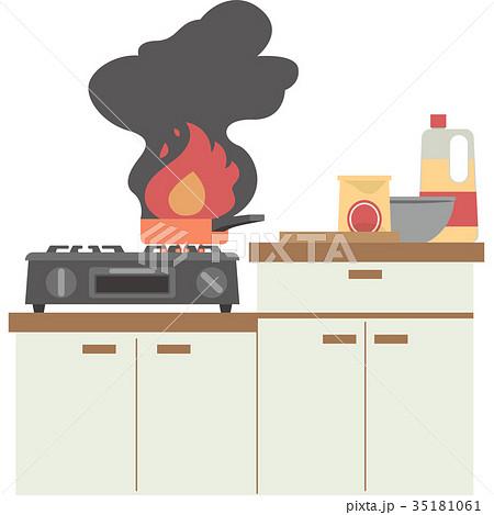 キッチンの火事 35181061
