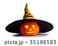 ハロウィン 帽子 かぼちゃの写真 35186583