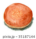 どらやき 水彩 和菓子のイラスト 35187144