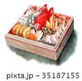 おせち料理 水彩 料理のイラスト 35187155