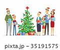 ベクトル クリスマス プレゼントのイラスト 35191575