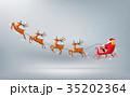 サンタ サンタクロース そりのイラスト 35202364