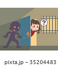 ドアの死角に隠れる不審者 35204483