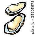 筆描き 牡蠣 35205678