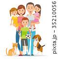 家族 人物 親子のイラスト 35210056