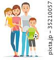 家族 人物 親子のイラスト 35210057