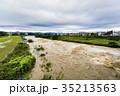 台風 朝 濁流の写真 35213563