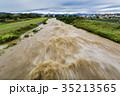 台風 朝 濁流の写真 35213565