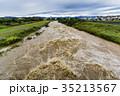 台風 朝 濁流の写真 35213567