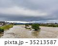 台風 朝 濁流の写真 35213587