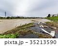 台風 朝 濁流の写真 35213590