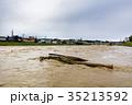 台風 朝 濁流の写真 35213592