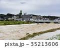 台風 朝 濁流の写真 35213606