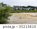 台風 朝 濁流の写真 35213610