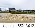 台風 朝 濁流の写真 35213612