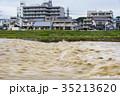 台風 朝 濁流の写真 35213620