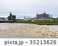 台風 朝 濁流の写真 35213626