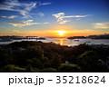 長崎港 長崎市 夕陽の写真 35218624