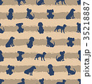 Seamless Template with Different Breeds of Dogs 35218887