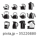 Kettle icons set. Vector illustrations. 35220880