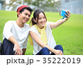 大学生 キャンパスライフ カップルの写真 35222019