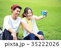 大学生 キャンパスライフ カップルの写真 35222026
