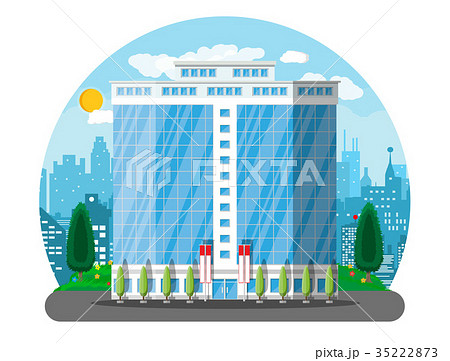 Office building exterior. Commercial building 35222873