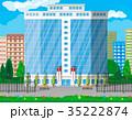 ベクトル 事務室 エクステリアのイラスト 35222874