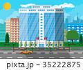 ベクトル 事務室 エクステリアのイラスト 35222875