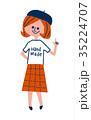 ベレー帽の女の子 35224707