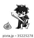 戦う勇者 モノクロ 35225278