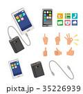 スマートフォン スマホ バッテリー イラスト 35226939