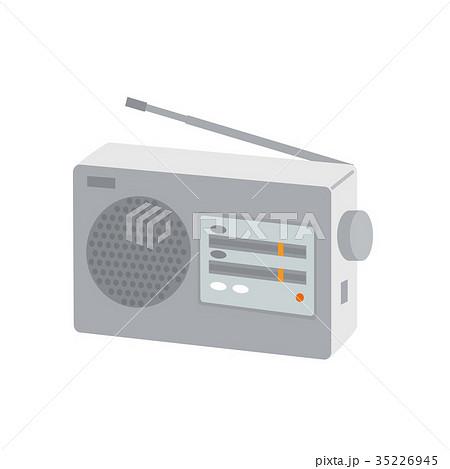 携帯ラジオ 防災グッズ イラスト 35226945
