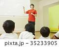 体操教室 指導 話を聞く子供たち 35233905