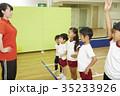 体操教室 指導 整列する子供たち 35233926